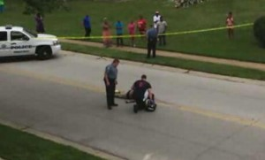 Michael Brown's body remained in the street for several hours after he was shot and killed in Ferguson, Mo., on Aug. 8.