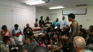 A group of elders and youth met to talk about how they can work together.