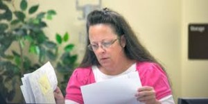 Rowan County, Ken., clerk Kim Davis. Photo by Huffington Post.