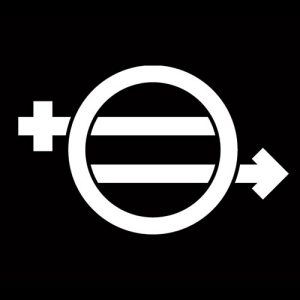 "The ;logo for the documentary film. ""Equal Means Equal."""