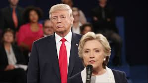 Last night, Trump stalked and glowered, obviously hoping to intimidate Clinton as she spoke. She kept her cool.