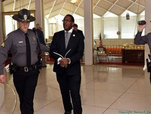 My friend and Moral Monday colleague, Rev. Curtis Gatewood being arrested last week -- again -- in protest of the unjust actions of the NC General Assembly.